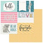 Photo Play Paper - Snuggle Up Collection - Girl - 12 x 12 Double Sided Paper - Hello Baby Girl 4x6 Cards