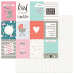 Photo Play Paper - Snuggle Up Collection - Girl - 12 x 12 Double Sided Paper - Loved Beyond Measure 3x4 Cards