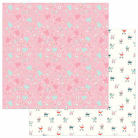 Photo Play Paper - Snuggle Up Collection - Girl - 12 x 12 Double Sided Paper - Cuddle Time Girl
