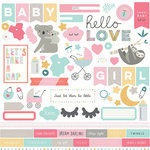 Photo Play Paper - Snuggle Up Collection - Girl - 12 x 12 Cardstock Stickers - Elements