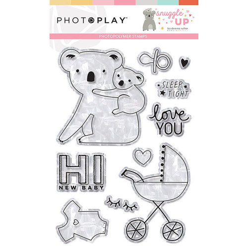 Photo Play Paper - Snuggle Up Collection - Girl - Clear Photopolymer Stamps