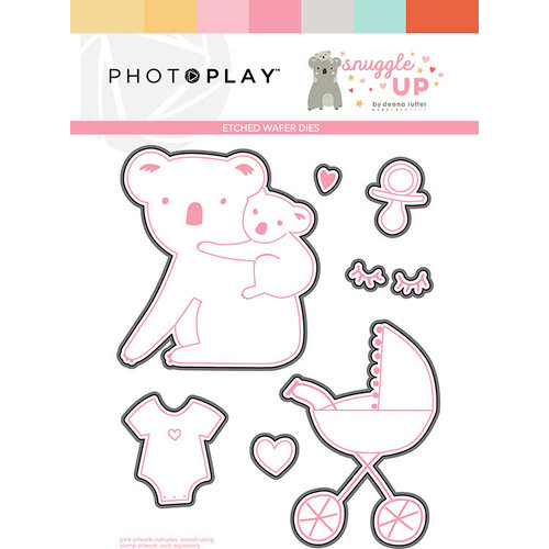 Photo Play Paper - Snuggle Up Collection - Girl - Die Set
