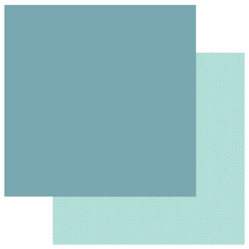 Photo Play Paper - Snuggle Up Collection - Girl - 12 x 12 Double Sided Paper - Solids Plus - Dark Teal
