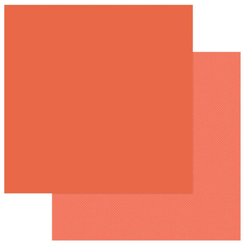 Photo Play Paper - Snuggle Up Collection - Girl - 12 x 12 Double Sided Paper - Solids Plus - Orange