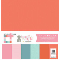 Photo Play Paper - Snuggle Up Collection - Girl - 12 x 12 Collection Pack - Solids Plus