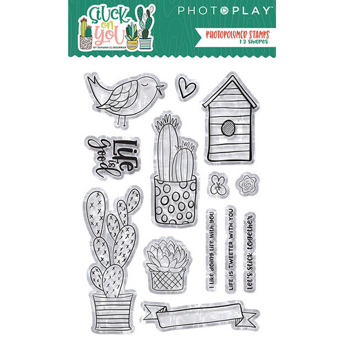 Photo Play Paper - Stuck on You Collection - Clear Acrylic Stamps