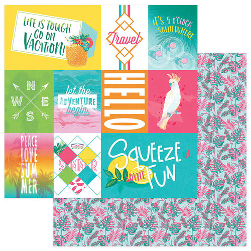 Photo Play Paper - Squeeze in Some Fun Collection - 12 x 12 Double Sided Paper - Summer