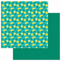 Photo Play Paper - Squeeze in Some Fun Collection - 12 x 12 Double Sided Paper - Lemonade