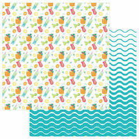 Photo Play Paper - Squeeze in Some Fun Collection - 12 x 12 Double Sided Paper - Pina Colada