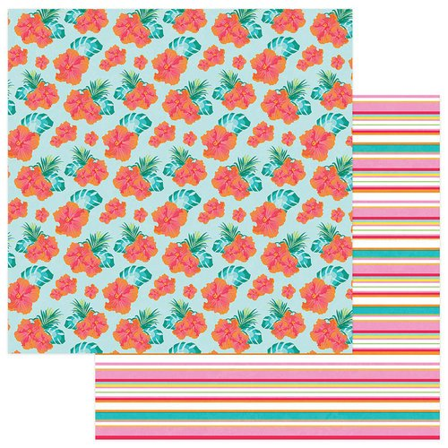 Photo Play Paper - Squeeze in Some Fun Collection - 12 x 12 Double Sided Paper - Hibiscus