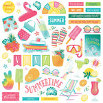 Photo Play Paper - Squeeze in Some Fun Collection - 12 x 12 Cardstock Stickers - Elements