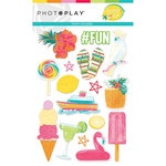 Photo Play Paper - Squeeze in Some Fun Collection - Puffy Stickers