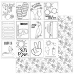 Photo Play Paper - Squeeze in Some Fun Collection - 12 x 12 Double Sided Paper - Color Me