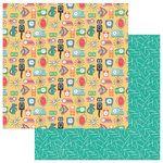 Photo Play Paper - Slightly Sassy Collection - 12 x 12 Double Sided Paper - Tick Tock