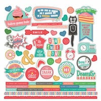 Photo Play Paper - Slightly Sassy Collection - 12 x 12 Cardstock Stickers - Elements