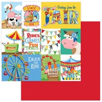 Photo Play Paper - State Fair Collection - 12 x 12 Double Sided Paper - Ferris Wheel