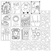 Photo Play Paper - State Fair Collection - 12 x 12 Double Sided Paper - Color Me Sheet