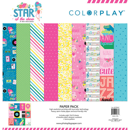 Color Play - Star Of The Show Collection - 12 x 12 Collection Paper Pack