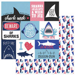 Photo Play Paper - Shark Attack Collection - 12 x 12 Double Sided Paper - Jawsome