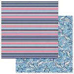 Photo Play Paper - Shark Attack Collection - 12 x 12 Double Sided Paper - Board Short