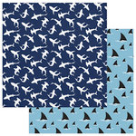 Photo Play Paper - Shark Attack Collection - 12 x 12 Double Sided Paper - Shark Bait