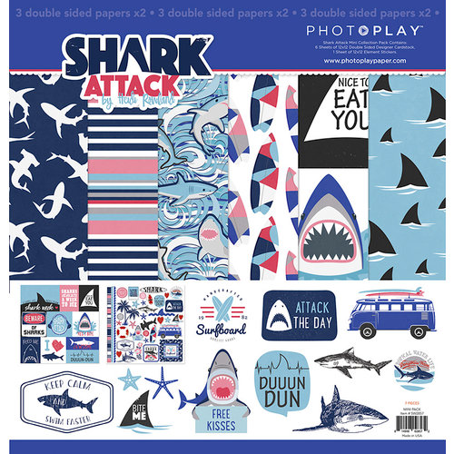 Photo Play Paper - Shark Attack Collection - 12 x 12 Collection Pack