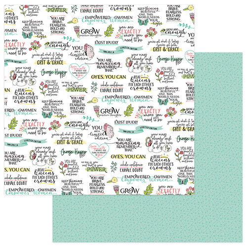 Photo Play Paper - Spread Your Wings Collection - 12 x 12 Double Sided Paper - Empower
