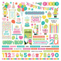 Photo Play Paper - Tulla's Birthday Collection - 12 x 12 Cardstock Stickers - Elements