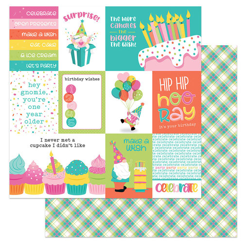Photo Play Paper - Tulla's Birthday Collection - 12 x 12 Double Sided Paper - Hooray