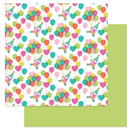 Photo Play Paper - Tulla's Birthday Collection - 12 x 12 Double Sided Paper - Floating
