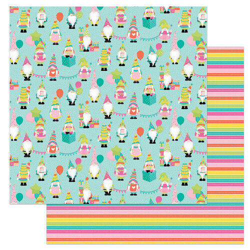 Photo Play Paper - Tulla's Birthday Collection - 12 x 12 Double Sided Paper - Celebrating With My Gnomies