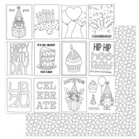 Photo Play Paper - Tulla's Birthday Collection - 12 x 12 Double Sided Paper - Color Me