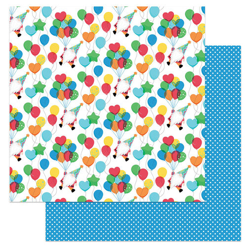 Photo Play Paper - Norbert's Birthday Collection - 12 x 12 Double Sided Paper - Party Up