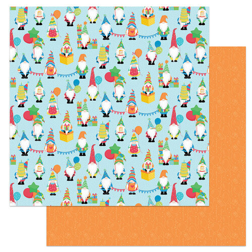 Photo Play Paper - Norbert's Birthday Collection - 12 x 12 Double Sided Paper - Happy Birthday Gnomies