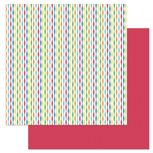 Photo Play Paper - Norbert's Birthday Collection - 12 x 12 Double Sided Paper - Streamers