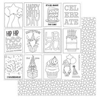 Photo Play Paper - Norbert's Birthday Collection - 12 x 12 Double Sided Paper - Color Me