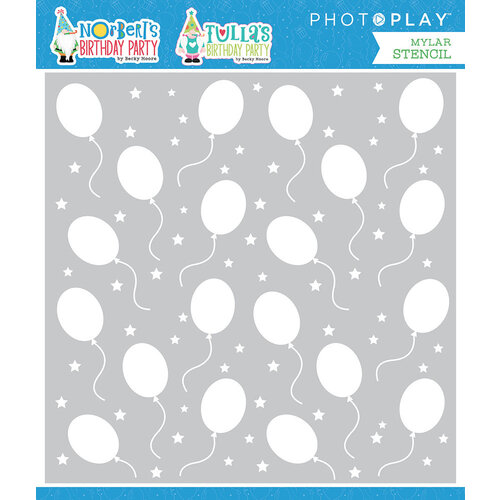 Photo Play Paper - Norbert's Birthday Collection - Stencils - Birthday Balloons