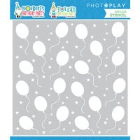 Photo Play Paper - Norbert's Birthday Collection - 6 x 6 Stencil - Birthday Balloons