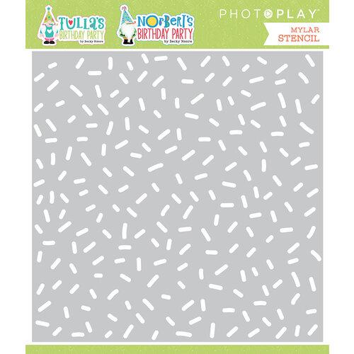 Photo Play Paper - Tulla's Birthday Collection - Stencils - Birthday Confetti