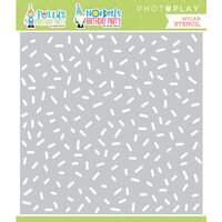Photo Play Paper - Tulla's Birthday Collection - Stencils - Birthday Confetti
