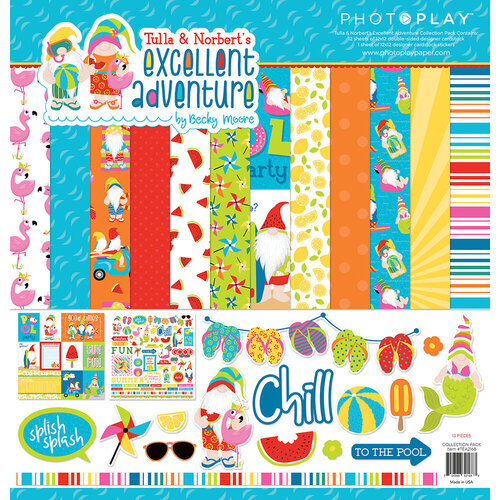 Photo Play Paper - Tulla and Norbert's Excellent Adventure Collection - 12 x 12 Collection Pack