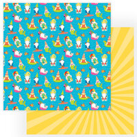 Photo Play Paper - Tulla and Norbert's Excellent Adventure Collection - 12 x 12 Double Sided Paper - Pool Party