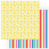 Photo Play Paper - Tulla and Norbert's Excellent Adventure Collection - 12 x 12 Double Sided Paper - Lemonade