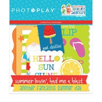 Photo Play Paper - Tulla and Norbert's Excellent Adventure Collection - Die Cut Cardstock Pieces - Ephemera