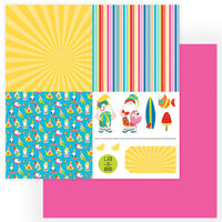 Photo Play Paper - Tulla and Norbert's Excellent Adventure Collection - 12 x 12 Double Sided Paper - Quad 1