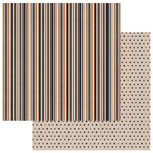 Photo Play Paper - This Guy Collection - 12 x 12 Double Sided Paper - Multi Stripe