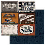 PhotoPlay Paper - This Guy Collection - 12 x 12 Double Sided Paper - Strong and Brave 4x6 Cards