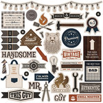 Photo Play Paper - This Guy Collection - 12 x 12 Cardstock Stickers - Elements