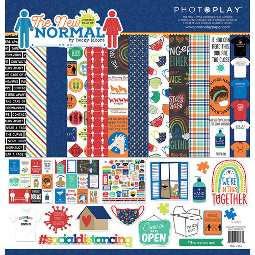 Photo Play Paper - The New Normal Collection - 12 x 12 Collection Pack