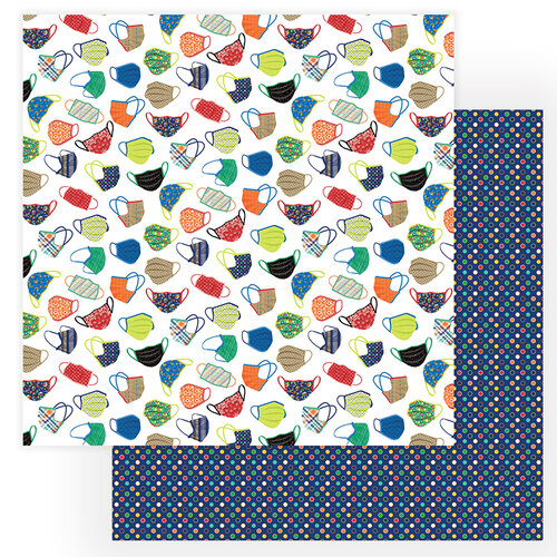 Photo Play Paper - The New Normal Collection - 12 x 12 Double Sided Paper - Cover Your Face